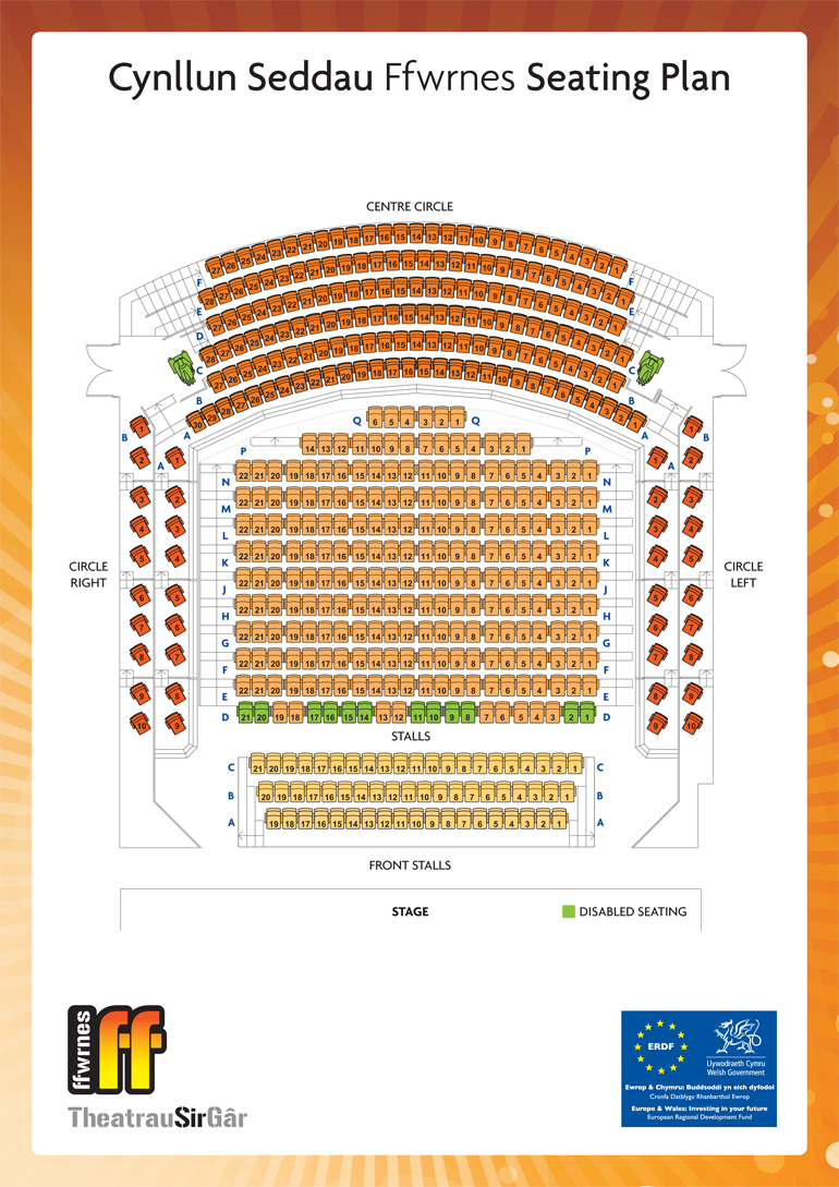 Ffwrnes Seating Plan