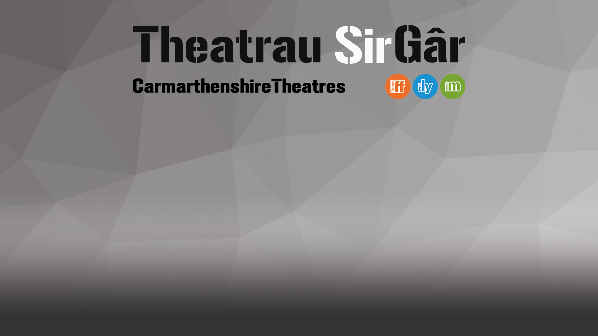 Theatrau SirGar Logo and background